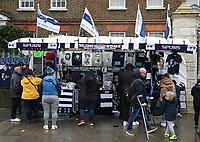 26th December 2019; Tottenham Hotspur Stadium, London, England; English Premier League Football, Tottenham Hotspur versus Brighton and Hove Albion; Spurs fans at a merchandise stall outside the ground - Strictly Editorial Use Only. No use with unauthorized audio, video, data, fixture lists, club/league logos or 'live' services. Online in-match use limited to 120 images, no video emulation. No use in betting, games or single club/league/player publications