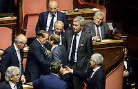 Roma, 2 Ottobre 2013<br /> Senato <br /> Silvio Berlusconi e Pier Ferdinando Casini alla fine dell'intervento del Primo  Ministro Enrico Letta
