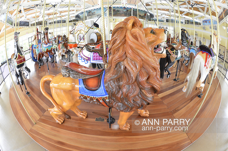 Nunley's Carousel at Museum Row, Garden City, New York, USA, on August 7, 2012, taken with Nikon 16mm 180-degree fisheye lens
