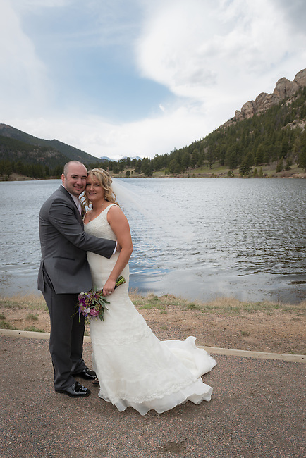 Julie and Adam's wedding portraits at Lily Lake near Estes Park, Colorado, USA