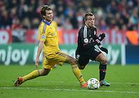 FUSSBALL   CHAMPIONS LEAGUE   SAISON 2012/2013   GRUPPENPHASE   FC Bayern Muenchen - FC Bate Borisov              05.12.2012 Denis Polyakov (li, FC Bate Borisov) gegen Xherdan Shaqiri (FC Bayern Muenchen)
