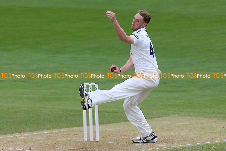 Jamie Porter in bowling action for Essex during Essex CCC vs Durham MCCU, English MCC University Match Cricket at The Cloudfm County Ground on 4th April 2017