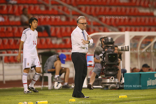 (L to R) <br /> Kengo Nakamura, <br />   Alberto Zaccheroni (JPN), <br /> JUNE 11, 2013 - Football / Soccer : <br /> FIFA World Cup Brazil 2014 Asian Qualifier <br /> Final Round Group B <br /> between Iraq 0-1 Japan <br /> at Al-Arabi Stadium, Doha, Qatar. <br /> (Photo by YUTAKA/AFLO SPORT)