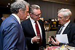"BRUSSELS - BELGIUM - 24 March 2015 -- BOGK - German Association of the Fruit, Vegetable and Potato Processing Industry - Award ceremony ""Ambassador of Good Taste"". -- Andreas SCHNEIDER; Werner KOCH, Managing Director BOGK Bonn and Brussels offices and MEP Albert DESS, Group of the European People's Party (Christian Democrats - Germany).  -- Photo: Juha ROININEN / EUP-IMAGES"