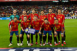 Spain's players during UEFA Nations League 2019 match between Spain and England at Benito Villamarin stadium in Sevilla, Spain. October 15, 2018. (ALTERPHOTOS/A. Perez Meca)