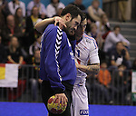 13.01.2013 Granollers, Spain. IHF men's world championship, prelimanary round. Picture show Samuel Honrubia  in action during game between France vs Montenegro at Palau d'esports de Granollers