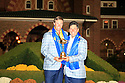 Nicolas Colsaerts of Team Europe poses with Jose Maria Olazabal after the closing ceremony of the 39th Ryder Cup matches, Medinah Country Club, Chicago, Illinois, USA.  28-30 September 2012 (Picture Credit / Phil Inglis)