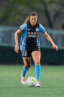 Allston, MA - Saturday, May 07, 2016: Chicago Red Stars forward Sofia Huerta (11) during a regular season National Women's Soccer League (NWSL) match at Jordan Field.