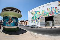 Murales delBanco de Ropa patrocinados por Casa Madrid  , colonia Centro de Hermosillo.<br /> Foto: LuisGutierrrez/NortePhoto