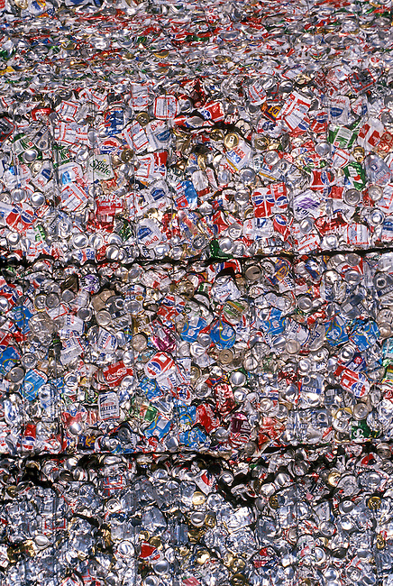 Aluminum Cans Compressed and Baled