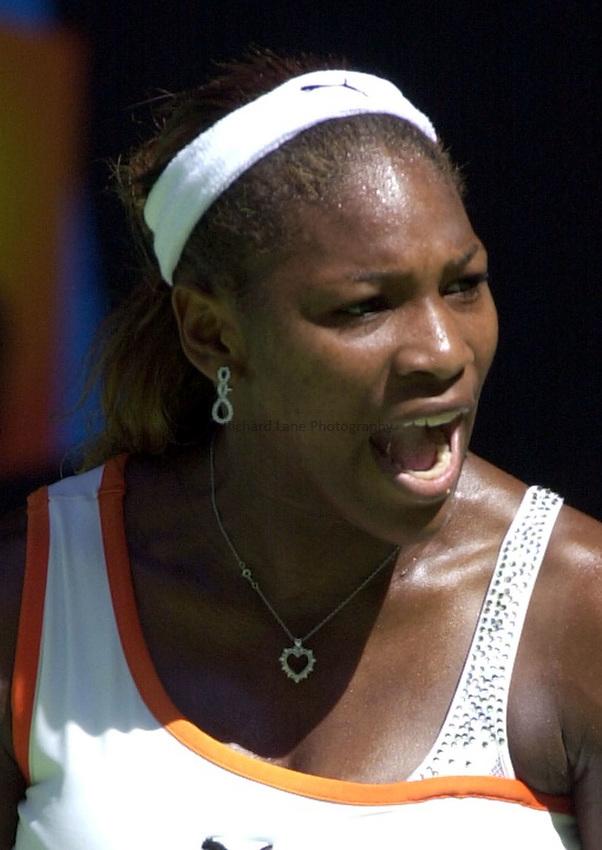 Australian Open Tennis 2003.24/01/2003..Serena Williams