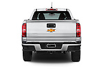 Straight rear view of a 2015 Chevrolet Colorado Z71 Crew Cab 4 Door Pick Up Rear View  stock images
