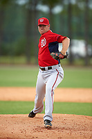 Washington Nationals PJ Walters (40) during a minor league Spring Training game against the Detroit Tigers on March 28, 2016 at Tigertown in Lakeland, Florida.  (Mike Janes/Four Seam Images)