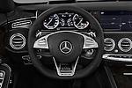 Car pictures of steering wheel view of a 2017 Mercedes Benz S-Class S65-AMG 2 Door Convertible Steering Wheel