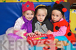Children from Blennerville playgroup who are agtting ready for the National Concert hall workshop next week end in Siamsa Tire from left Keelin Enright, Zach Howaerh and Lily Commane.