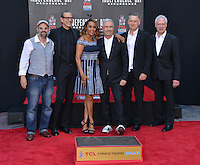 Ronald Emmerich + cast @ Emmerich Hand and Footprint Ceremony held @ the Chinese theatre.<br /> June 20, 2016.
