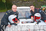 1772-1775.---------.Burning Rubber.-------.Ray Stack and Alan Curran from Ballyheigue get ready to tear up Moll,s Gap,the 1st stage of the Lakes Rally last weekend in Killarney.