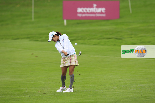 Ai Miyazato (JPN) in action during Wednesday's Pro-Am of The Evian Championship 2014 held at the Evian Resort Golf Club, Evian-les-Bains, France.: Picture Eoin Clarke, www.golffile.ie: 10th September 2014