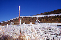 ICICLES<br /> Ice On A Fence<br /> Washoe Valley, NV