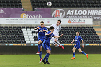 Pictured: Liam Cullen of Swansea (R). Tuesday 01 May 2018<br /> Re: Swansea U19 v Cardiff U19 FAW Youth Cup Final at the Liberty Stadium, Swansea, Wales, UK
