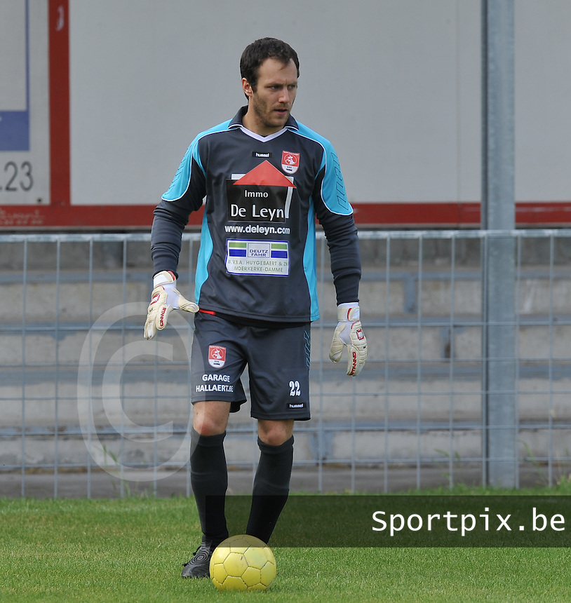 SVV Damme : doelman Jelle Huyghebaert.foto VDB / BART VANDENBROUCKE