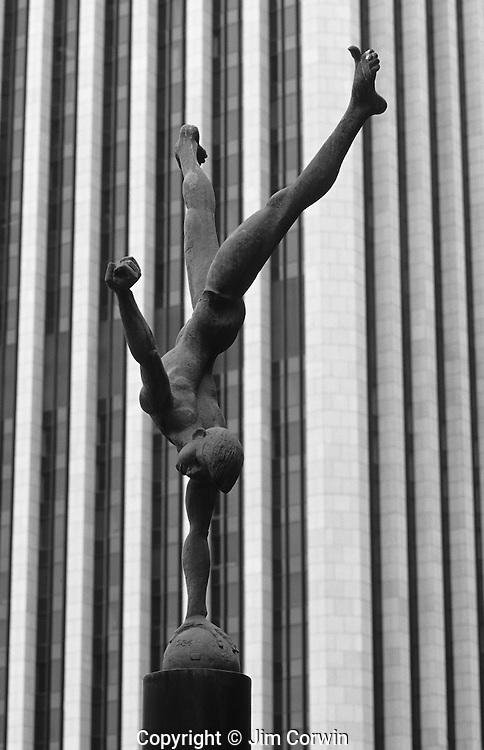 Downtown Los Angeles gymnast sculpture