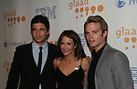 Jake Silbermann and Van Hansis & Michelle Clunie (Queer as Folk) at the 20th Annual GLAAD Media Awards on March 28, 2009 at the New York Marriott, New York City, NY. ATWT received the Glaad award for Outstanding Daily Drama. (Photo by Sue Coflin/Max Photos)