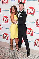 LONDON, UK. September 10, 2018: Rebekah Vardy &amp; Anton Du Beke at the TV Choice Awards 2018 at the Dorchester Hotel, London.<br /> Picture: Steve Vas/Featureflash
