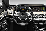 Car pictures of steering wheel view of a2016 Mercedes Benz S Class May Bach 4 Door Sedan Steering Wheel