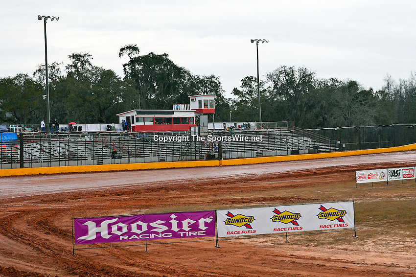 Feb 06, 2014; 6:14:40 PM; Waynesville, GA., USA; The Lucas Oil Late Model Dirt Series running The Georgia Boot Super Bowl of Racing at Golden Isles Speedway.  Mandatory Credit: (thesportswire.net)