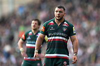 Ellis Genge of Leicester Tigers looks on. Aviva Premiership match, between Leicester Tigers and Northampton Saints on April 14, 2018 at Welford Road in Leicester, England. Photo by: Patrick Khachfe / JMP