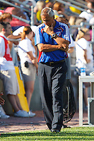 28 AUGUST 2010:  FC Dallas head coach Schellas Hyndman during MLS soccer game between FC Dallas vs Columbus Crew at Crew Stadium in Columbus, Ohio on August 28, 2010.