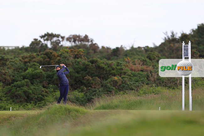 Linn Grant (SWE) on the 7th tee during Round 3 Matchplay of the Women's Amateur Championship at Royal County Down Golf Club in Newcastle Co. Down on Friday 14th June 2019.<br /> Picture:  Thos Caffrey / www.golffile.ie