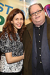 Jessica Hecht and Richard Greenberg attends the press reception for the Opening Night of the Lincoln Center Theater Production of 'The Babylon Line'  at the Mitzi E. Newhouse Theatre on December 5, 2016 in New York City.