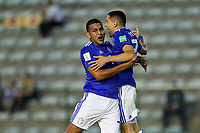 31st October 2019; Bezerrao Stadium, Brasilia, Distrito Federal, Brazil; FIFA U-17 World Cup Brazil 2019, Solomon Islands versus Paraguay; Diego Torres of Paraguay celebrates his goal with Rodrigo Lopez in the 65th minute for 0-3 - Editorial Use