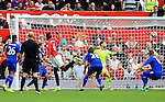 Paul Pogba of Manchester United scores his sides fourth goal during the Premier League match at Old Trafford Stadium, Manchester. Picture date: September 24th, 2016. Pic Sportimage