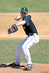 21 April 2007: University of Vermont Catamounts' Bryan Rembisz, a Senior from Clinton, CT, in action against the University of Hartford Hawks at Historic Centennial Field, in Burlington, Vermont. Rembisz pitched a complete 7-inning game and drove in the game-winning RBI as the Catamounts shut out the Hawks 1-0 in the first game of a double-header...Mandatory Photo Credit: Ed Wolfstein Photo