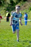 Action from the Athletics Wellington - Kids Cross Country at Grenada North Park, Tawa, Wellington, New Zealand on Sunday 31 August 2014.<br /> Photo by Masanori Udagawa.<br /> www.photowellington.photoshelter.com