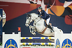 Martin Fuchs of Switzerland riding Clooney during the Hong Kong Jockey Club Trophy competition, part of the Longines Masters of Hong Kong on 10 February 2017 at the Asia World Expo in Hong Kong, China. Photo by Juan Serrano / Power Sport Images