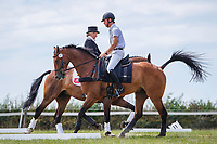 AUS-Kevin McNab rides Scuderia 1918 Don Quidam before the Dressage for CCI4*-S Section C. 2019 GBR-Barbury Castle International Horse Trial. Wiltshire, Great Britain. Friday 5 July. Copyright Photo: Libby Law Photography