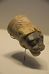 Israel, Jerusalem, lion shaped vessel for liquid offering from Tel Hazor, 1500-1300 BC, on display at the Israel Museum