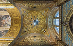 Europe, Malta, Valletta, St. John's Co-Cathedral Ceiling