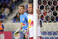 New York Red Bulls goalkeeper Frank Rost (1). The New York Red Bulls defeated the Philadelphia Union  1-0 during a Major League Soccer (MLS) match at Red Bull Arena in Harrison, NJ, on October 20, 2011.