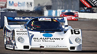 Vapor Trails - Zak Brown in the Blaupunkt Porsche 962 @ Legends of Motorsports - Sebring 2010