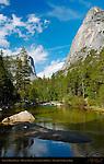 Lower Mirror Lake, Mount Watkins and Ahwiyah Point, Yosemite National Park