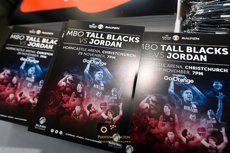 FIBA World Cup Basketball Qualifier - NZ Tall Blacks v Jordan at Horncastle Arena, Christchurch, New Zealand on Thursday 29 November  2018. <br /> Photo by Masanori Udagawa. <br /> www.photowellington.photoshelter.com
