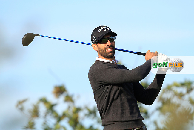 Alvaro Quiros (ESP) on the 12th tee during Round 1 of the 2015 KLM Open at the Kennemer Golf &amp; Country Club in The Netherlands on 10/09/15.<br /> Picture: Thos Caffrey | Golffile