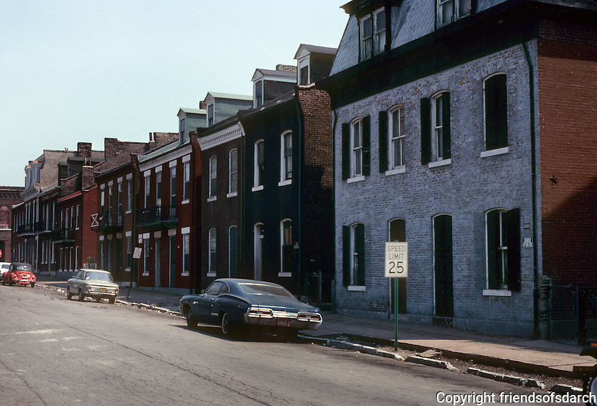 St. Louis: Soulard Neighborhood--8th St., South of Market. Photo '77.