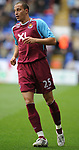 Bobby Zamora of West Ham United during the Premier League match at the Reebok Stadium, Bolton. Picture date 12th April 2008. Picture credit should read: Simon Bellis/Sportimage