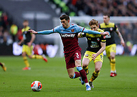 29th February 2020; London Stadium, London, England; English Premier League Football, West Ham United versus Southampton; Aaron Cresswell of West Ham United